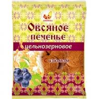 Печенье Овсяное цельнозерновое с изюмом 300гр