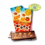 Темный шоколад на меду с миндалем 100гр
