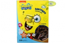 Спанч Боб Завтраки амарантовые в шоколадной глазури 220гр